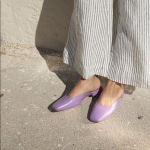 LOQ Lucia mules in purple 40